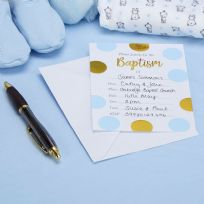 Pattern Works Blue Baptism Invitations (10)